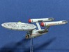 3788 Scale Federation Strike Carrier (CVS) WEM 3d printed Ship (Smooth Fine Detail Plastic) painted by a fan. Stand not included.