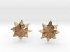 Starburst Stud Earrings 3d printed