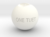 One Round Tuet Ball Key Fob 3d printed