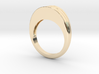 Striped band ring 3d printed