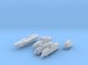 Battleship Game - Full Fleet of Custom Ships 3d printed