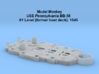 1/200 USS Pennsylvania BB-38 01 Level, 1945 3d printed