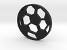 Soccer Ball Silhouette Keychain 3d printed