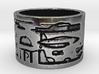 Helicopter & UFOs at Abydos #1 Ring Size 9 3d printed