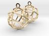 Deltoidal Icositetrahedron Earrings 3d printed
