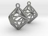 Triakis Octahedron Earrings 3d printed
