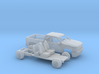 1/87 2007-13 Chevy Silverado Ext.Cab Short Bed Kit 3d printed
