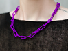 Geometric chain necklace 3d printed