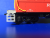 New & Improved HO LV caboose steps 3d printed Yes, it's a Reading caboose... pretend it's Cornell Red! :)