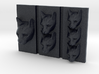 Cat Triptych-Faced Caricature (002) 3d printed