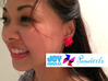 Pinwheel Earrings | Kinetic 3d printed