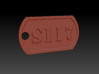 'S117' Master Chief Halo Themed Dog Tag 3d printed