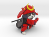 Samurai cat (hollow) 3d printed