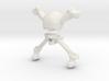 Skull and crossbones 3d printed