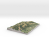"""Ruahine Range Map: 8.5""""x11"""" (100k) 3d printed"""