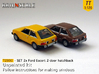 SET 2x Ford Escort 2-door hatchback (US) (TT 1:120 3d printed