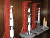 1/400 NASA LUT levels 13-18 Launch Umbilical Tower 3d printed My various launch pads, made by a customer who admits he has limited modelling skills. I think he's made a good job of them.