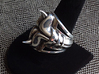 Horn Ring - Size 12 (21.39 mm) 3d printed Shown in Polished Silver