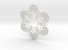Penguin & Igloo Snowflake Ornament 3d printed