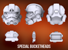Special Bucketheads (x7 + Droid) 3d printed