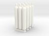 1:87 Gas Cylinders Pack of twelve 3d printed