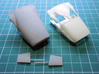 1/20th Lotus 49B nose cone 3d printed low resolution test print compared to original kit part