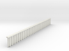 Metal sheet piling w/ covering crossbeam (N 1:160) 3d printed