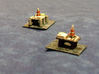 1:6000 Oil Rigs x2 3d printed Painted Oil rigs. Photo courtesy of Larry Bond
