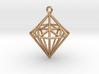 Wireframe Diamond Pendant 3d printed
