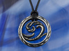 Wave Pendant 3d printed Photo of  Wave Pendant in Antique Silver