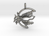 Fly Free Nightbird Pendant. 3d printed
