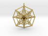 Double Hypercube pendant with ring 3d printed