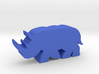 Game Piece, Rhinoceros running 3d printed