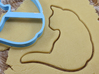 Cat 2 cookie cutter for professional 3d printed