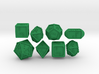 Braille Polyhedral Gaming Dice Set (8 Dice) 3d printed