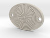 Radial Labyrinth Aromatherapy Convertible Pendant 3d printed
