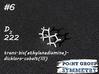 #6 D2bis(ethylenediamine)-dichloro-cobalt 3d printed Shown material: White Natural Versatile Plastic