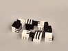 Puzzle Cube, Positive, (white) pieces 3d printed disassembles into eight black and white parts