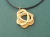 Triquetra Pendant in Polished Steel 3d printed one side