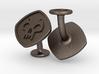 Cufflinks MTG Black Mana Symbol (Swamp) 3d printed