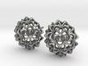 Virus Ball -- Stud Earrings in Cast Metals 3d printed