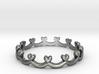 Scalloped Heart Edge Ring (Multiple Sizes) 3d printed