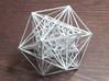 Inversion of Cuboctahedra 3d printed inverse of 24 cuboctahedra in white strong and flexible plastic