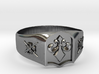 Fleur-de-lis and the Director of Ceremonies Ring 3d printed