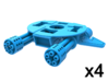 Aerial Robot Accessory, Gatling Base 3d printed