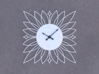 Sunburst Clock - Blossom 3d printed Render of clock face with hands added