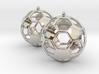 Pair of Soccer Ball Earrings 3d printed