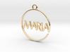MARIA First Name Pendant 3d printed