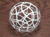 Stripsphere12 3d printed 12 strip sphere, parallel to dodecahedron faces