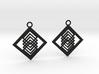 Geometrical earrings no.14 3d printed
